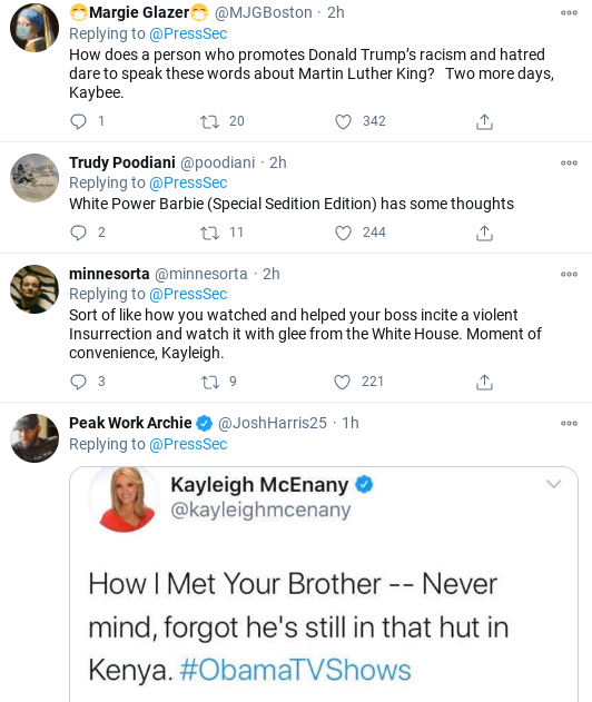 Screenshot-2021-01-18-at-12.07.52-PM Kayleigh McEnany Humiliated After MLK Day Message Goes Wrong Donald Trump Politics Social Media Top Stories