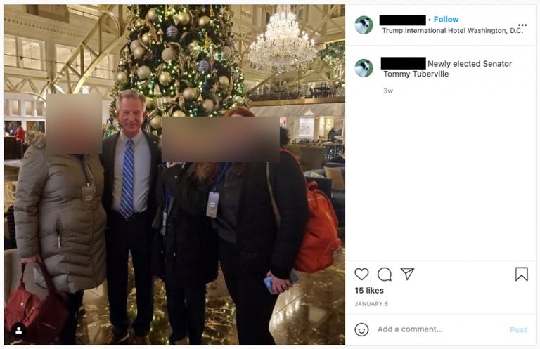 tuberville_trump_hotel_meeting_instagram-768x497-1 GOP Senator Caught Lying About  Pre-Riot Meeting At Trump Hotel Corruption Donald Trump Politics Social Media Top Stories