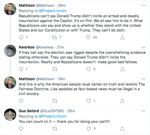 Screen-Shot-2021-02-06-at-10.28.55-AM 'The Lincoln Project' Strikes Again To Roast The GOP Traitors Conspiracy Theory Donald Trump Featured Politics Top Stories Twitter Videos