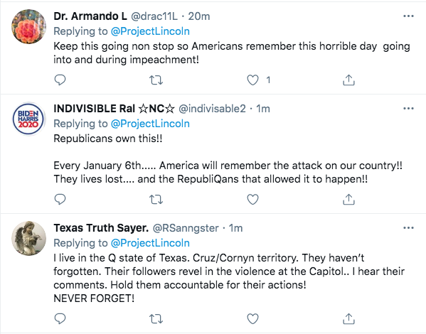 Screen-Shot-2021-02-06-at-10.29.18-AM 'The Lincoln Project' Strikes Again To Roast The GOP Traitors Conspiracy Theory Donald Trump Featured Politics Top Stories Twitter Videos