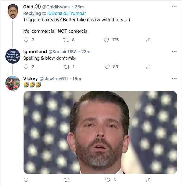 Screen-Shot-2021-02-07-at-7.20.27-PM Trump Jr. Has Childish Hissy-Fit Over The Super Bowl Donald Trump Politics Racism Top Stories Twitter