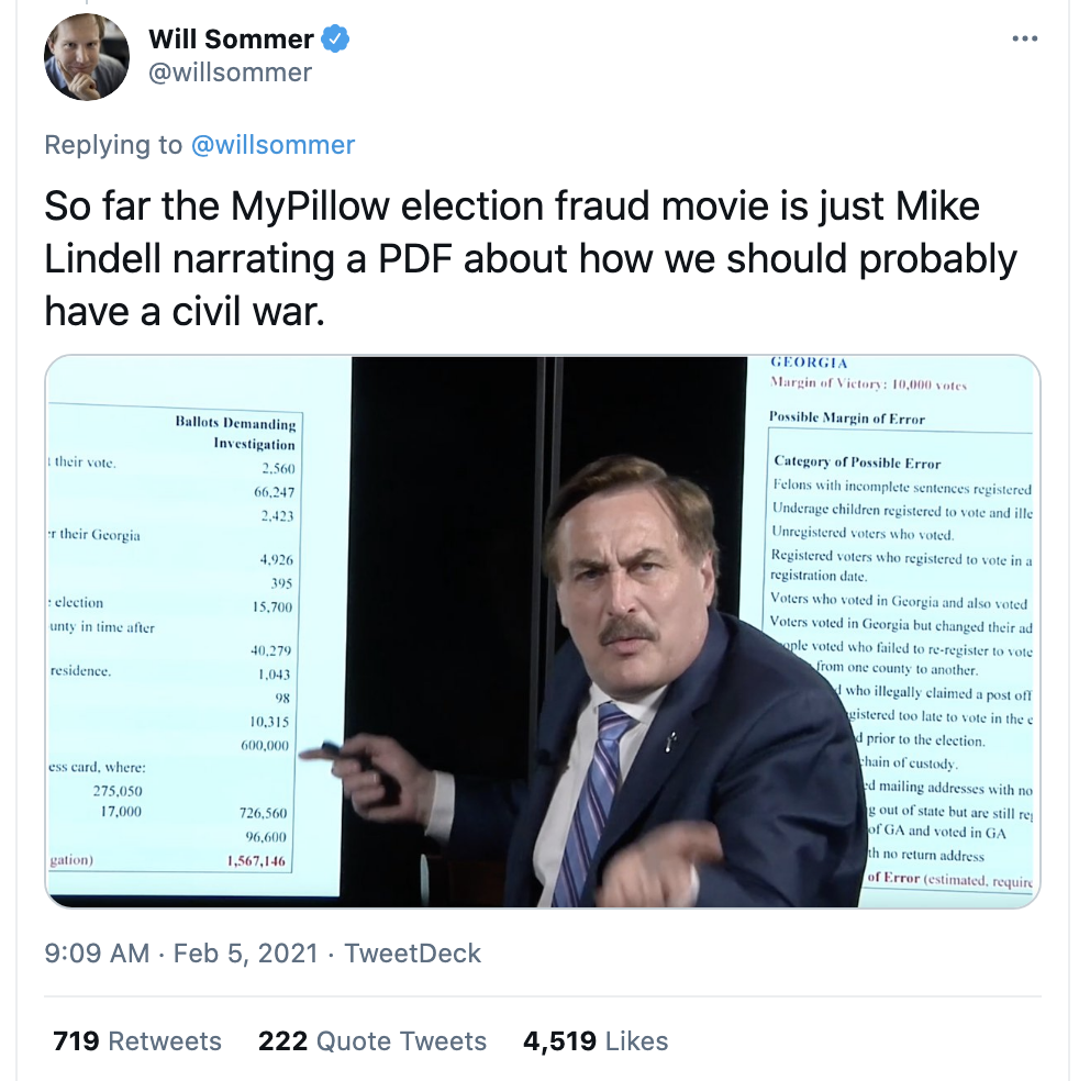 Screen-Shot-2021-02-07-at-8.53.37-AM 'MyPillow Guy' Suffers Widespread Humiliation On SNL Weekend Update Donald Trump Featured Mental Illness Politics Top Stories