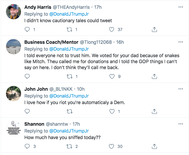 Screen-Shot-2021-02-14-at-10.00.36-AM Donald Trump Jr. Yells At Mitch McConnell Like A Maniac Crime Donald Trump Featured Politics Top Stories Twitter