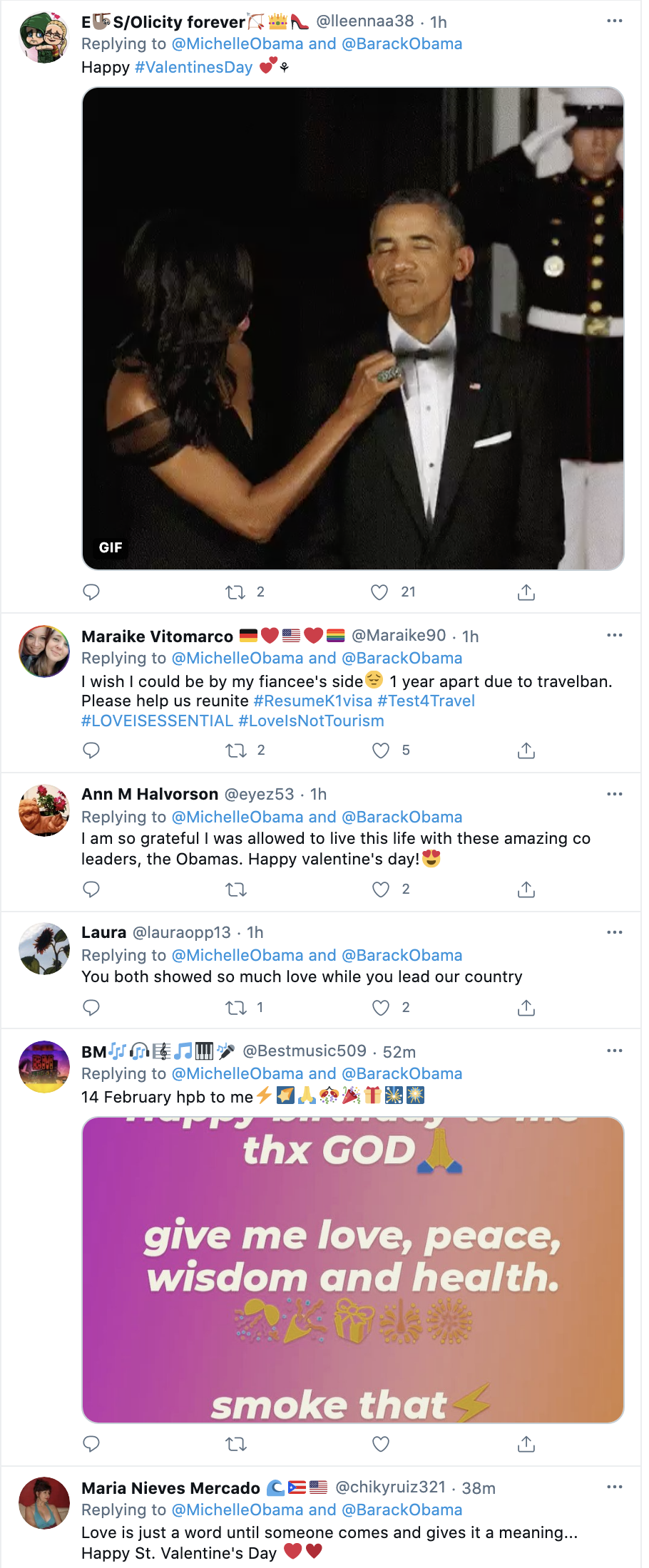 Screen-Shot-2021-02-14-at-9.22.55-AM Michelle Obama Sends Romantic Valentines Love Note To Barack Celebrities Featured Michelle Obama Politics Top Stories