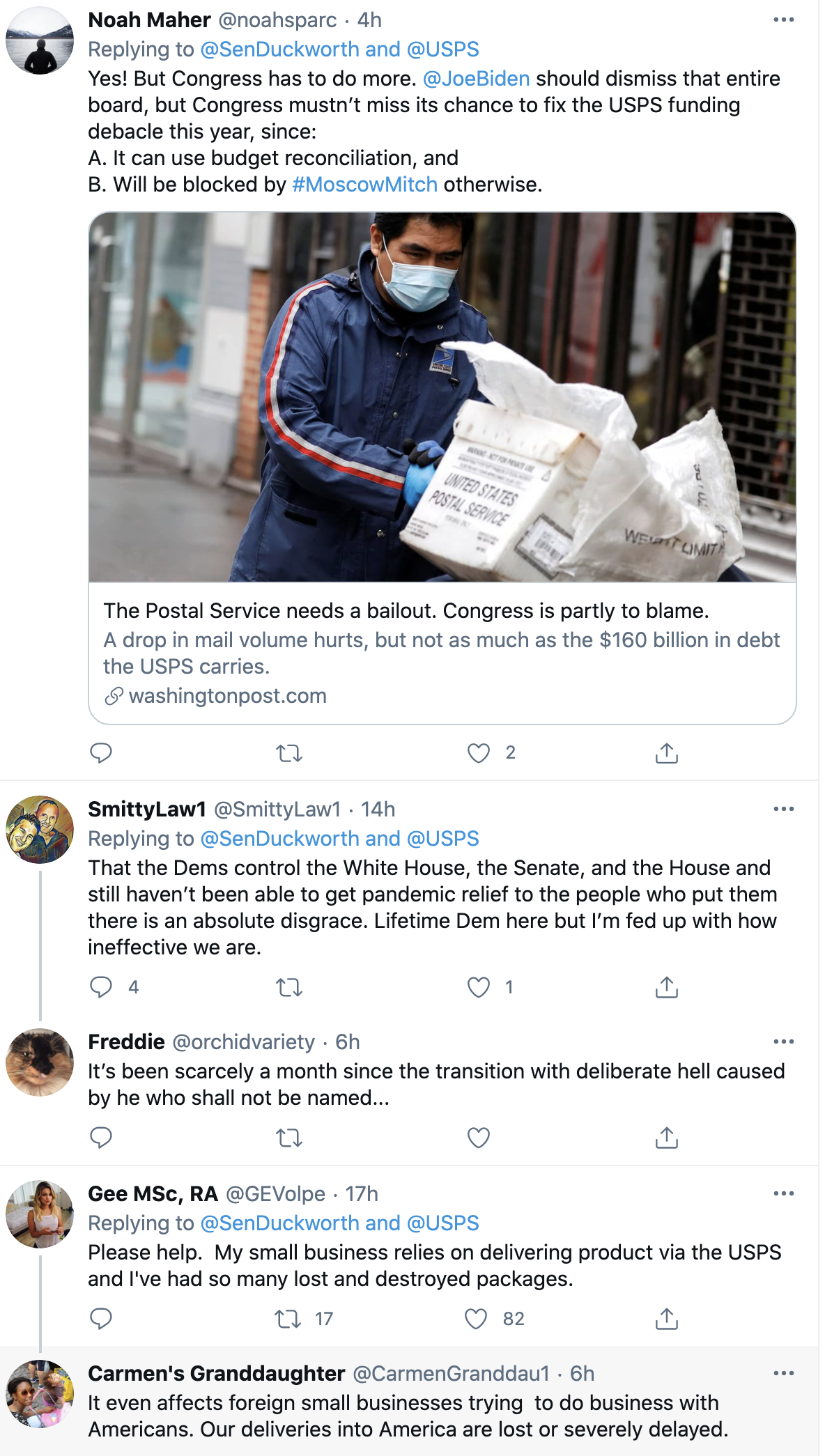 Screen-Shot-2021-02-15-at-8.19.08-AM Termination Of Entire US Postal Service Board To Oust Dejoy Demanded By Senator Corruption Donald Trump Featured Politics Top Stories