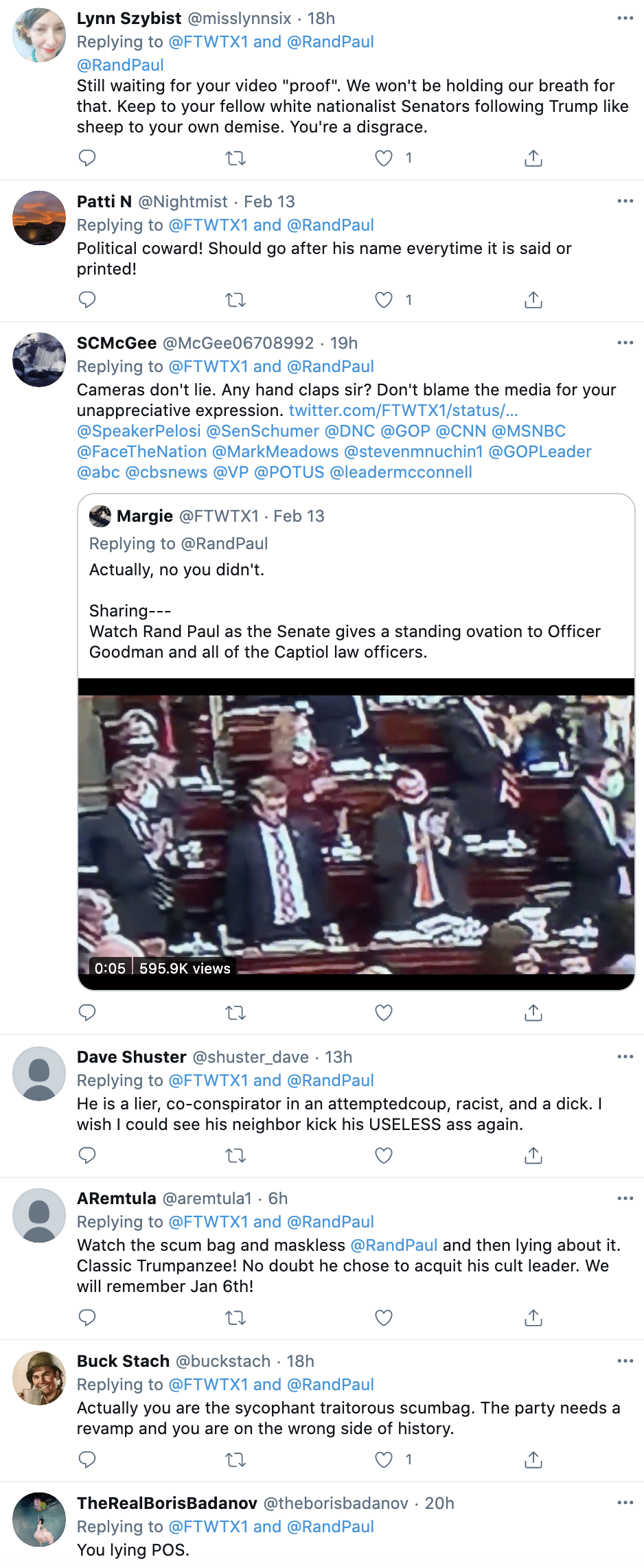 Screen-Shot-2021-02-15-at-9.36.04-AM Rand Paul Caught On Video Disrespecting Heroic Capitol Police Featured Military National Security Politics Top Stories