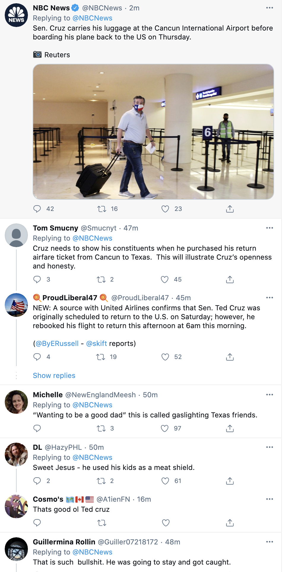 Screen-Shot-2021-02-18-at-1.08.37-PM Ted Cruz Throws His Children Under The Bus To Save Himself Corruption Environment Featured Politics Top Stories