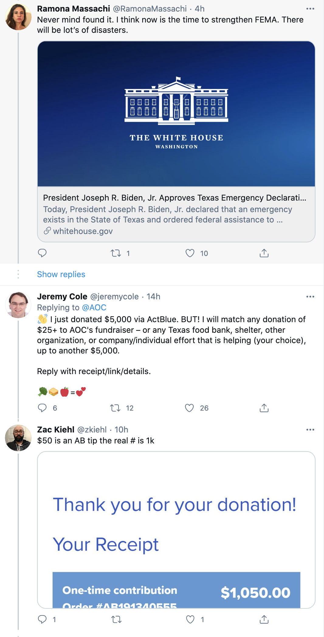 Screen-Shot-2021-02-19-at-10.01.29-AM Democrats Raised $1,000,000 In 3 Hours As Ted Cruz Fled To Mexico Environment Featured Natural Disaster Politics Top Stories