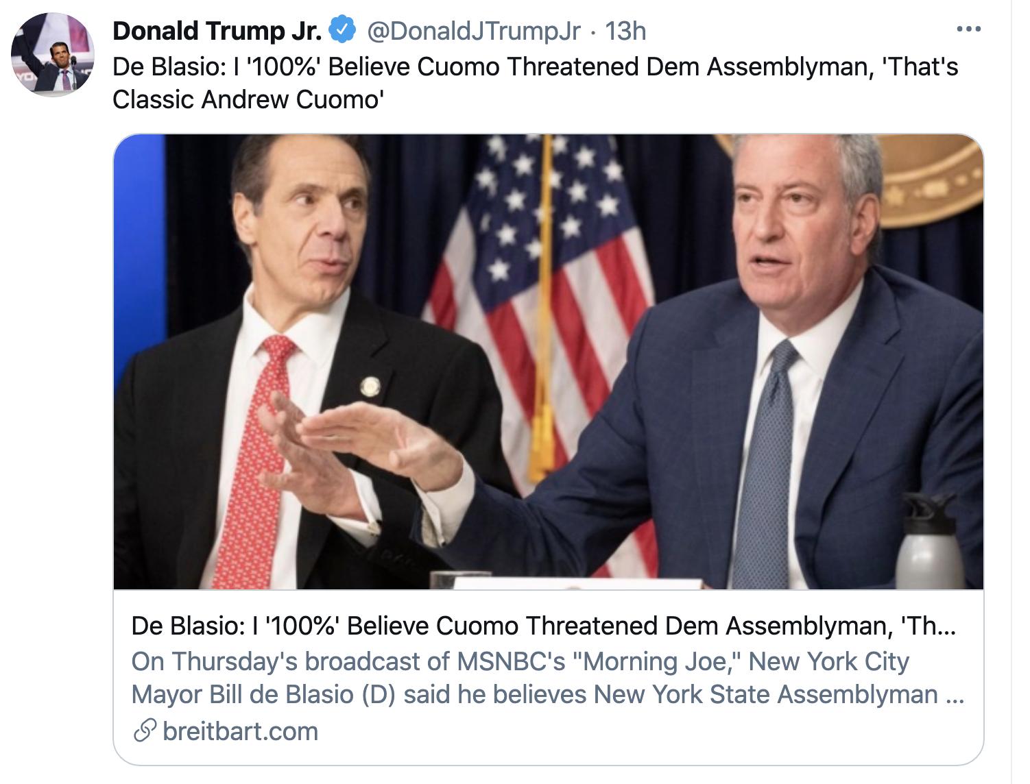 Screen-Shot-2021-02-19-at-8.44.44-AM Trump Jr Attempts To Defend 'Cancun Cruz' But Humiliates Himself Instead Corruption Crime Donald Trump Featured Politics Top Stories