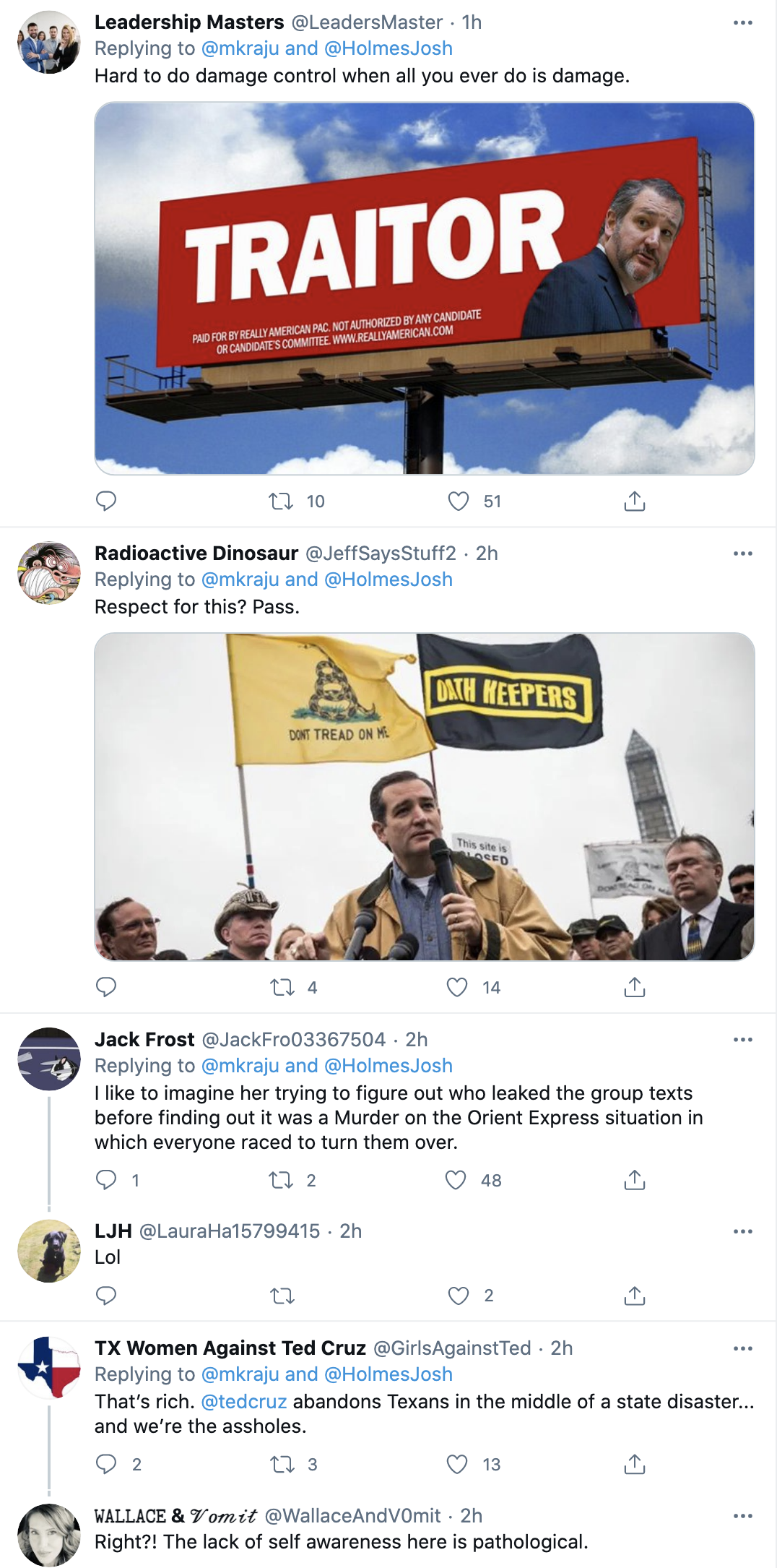 Screen-Shot-2021-02-23-at-9.19.45-AM Ted Cruz Goes On Expletive Laden Rant Over Neighbors Leaking Texts Corruption Environment Featured Politics Top Stories White Privilege