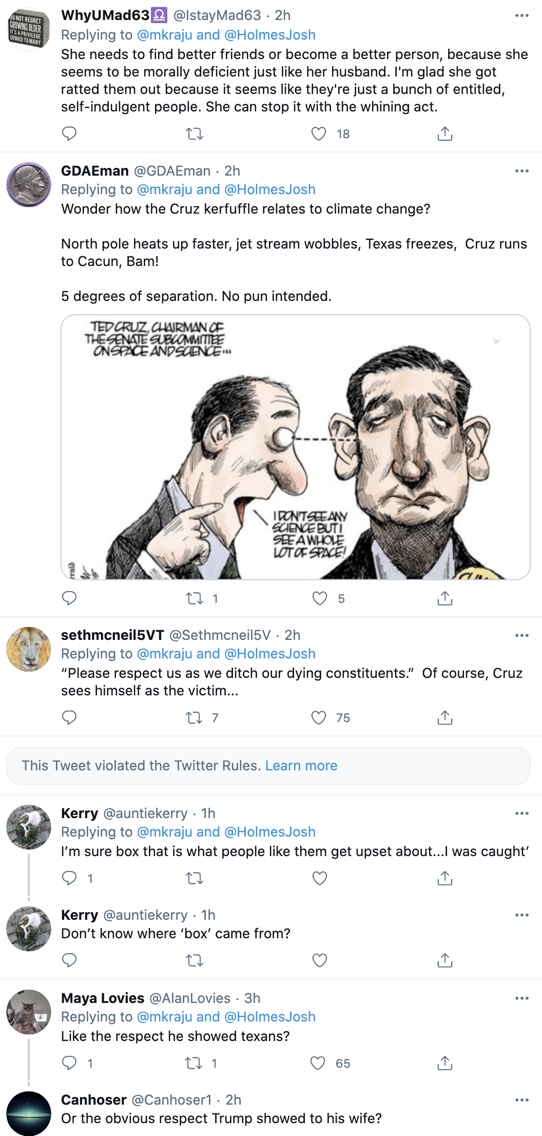 Screen-Shot-2021-02-23-at-9.20.32-AM Ted Cruz Goes On Expletive Laden Rant Over Neighbors Leaking Texts Corruption Environment Featured Politics Top Stories White Privilege