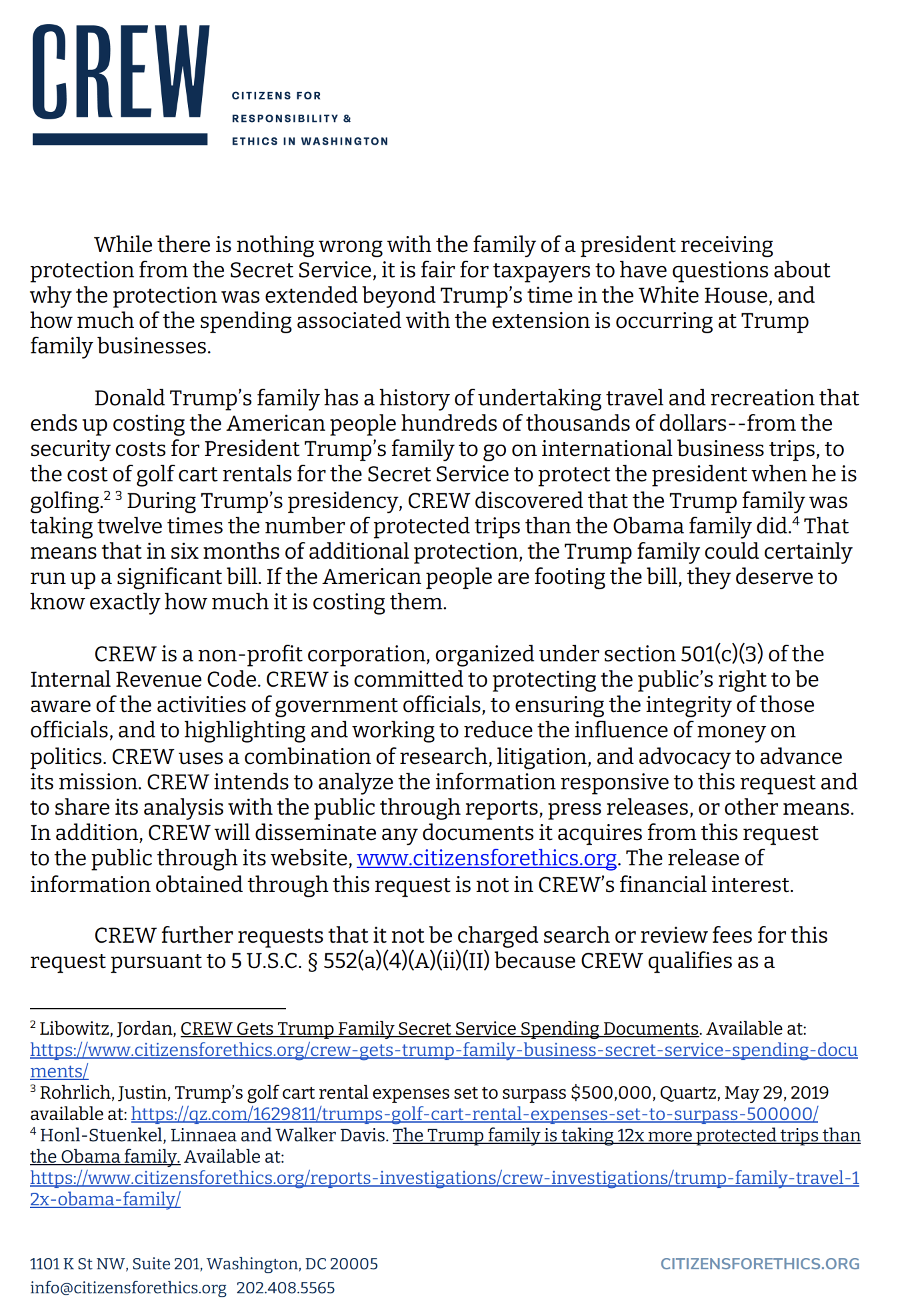 Screen-Shot-2021-02-28-at-11.06.59-AM Post-Presidency Spending Of Trump Family Put Under Investigation Donald Trump Featured National Security Politics Top Stories