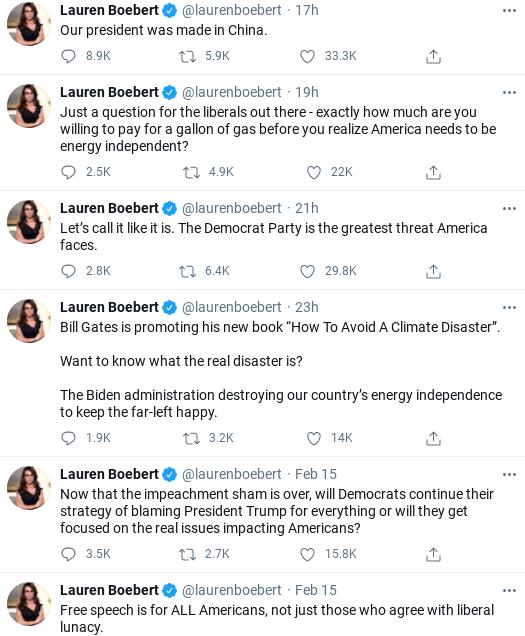 Screenshot-2021-02-16-at-11.20.12-AM Lauren Boebert Says Even Dumber Things About Windmills Than Trump Politics Social Media Top Stories