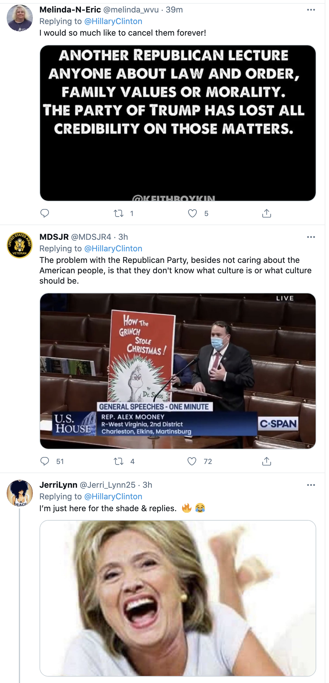 Screen-Shot-2021-03-04-at-2.43.06-PM Hillary Mocks GOP Over Dr Suess Fueled, Cancel Culture Phony Outrage Featured Feminism Politics Top Stories Women's Rights