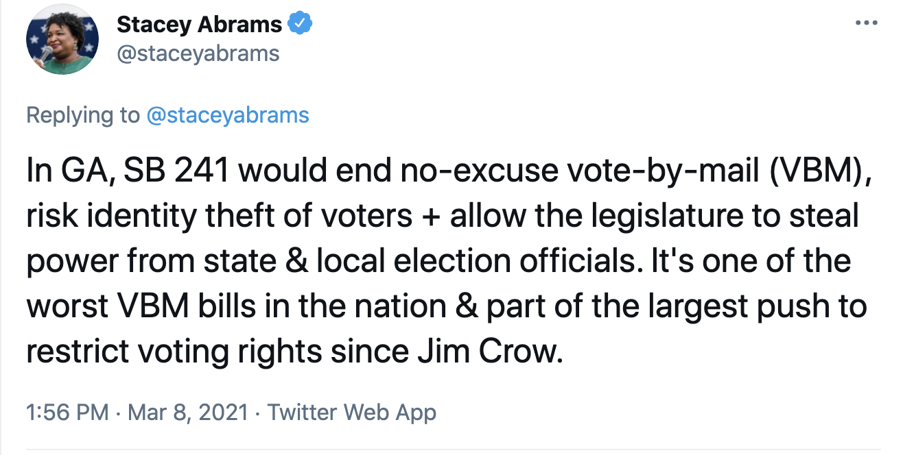 Screen-Shot-2021-03-08-at-2.09.06-PM Stacey Abrams Makes Power Move To Thwart GOP Voter Suppression Corruption Crime Featured Politics Top Stories