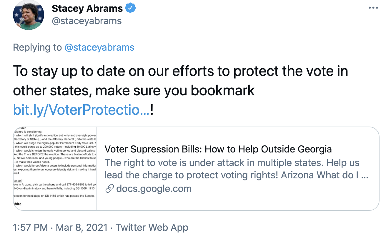 Screen-Shot-2021-03-08-at-2.23.05-PM Stacey Abrams Makes Power Move To Thwart GOP Voter Suppression Corruption Crime Featured Politics Top Stories