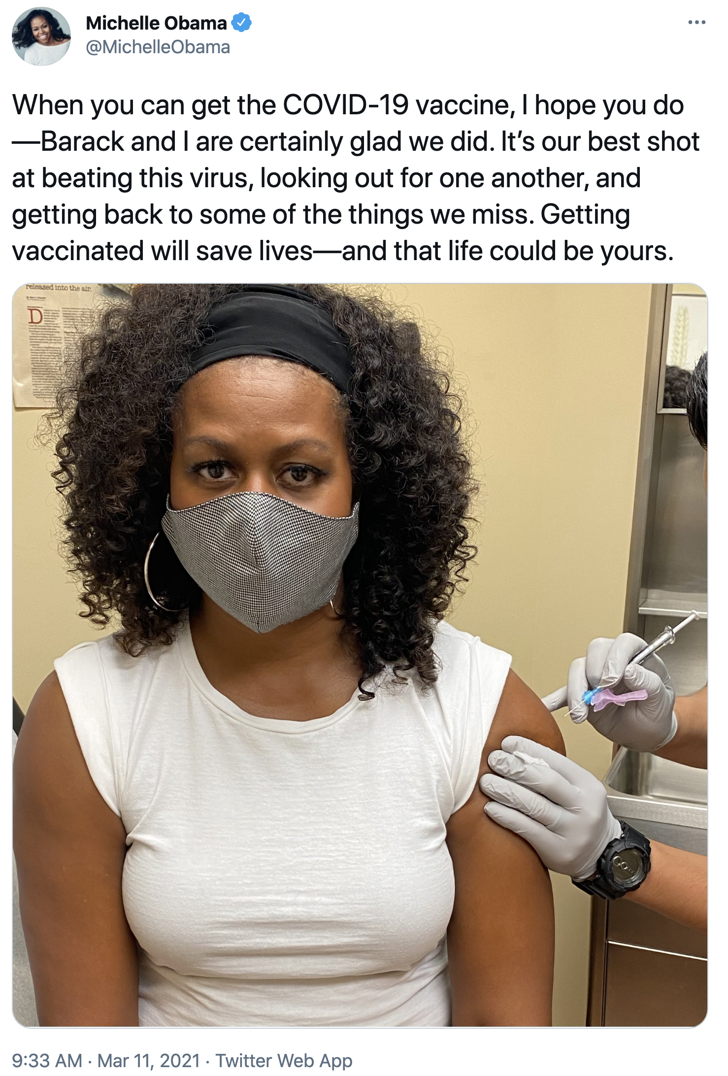 Screen-Shot-2021-03-11-at-9.46.53-AM Michelle Obama Issues Rallying Cry For Americans To Get Vaccinated Coronavirus Featured Politics Top Stories Women's Rights