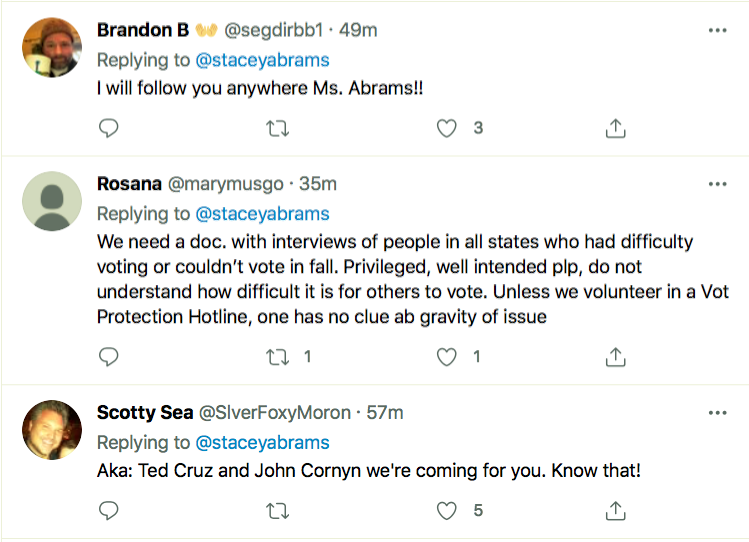 Screen-Shot-2021-03-25-at-8.34.40-PM Stacey Abrams Puts GOP On Notice Over Voter Suppression Bill Civil Rights Donald Trump Featured Politics Racism Top Stories Twitter