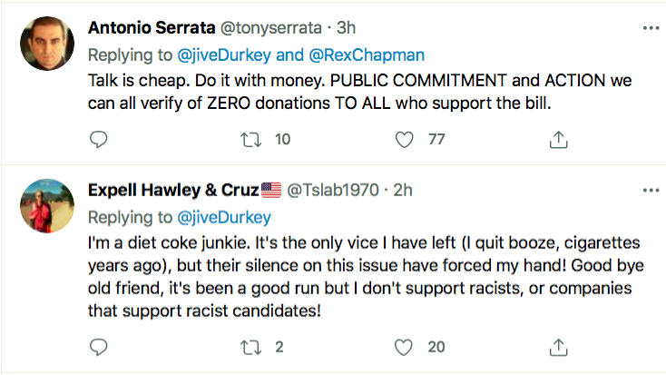 Screen-Shot-2021-03-31-at-5.59.48-PM Coca-Cola Takes Stands Up Against Voter Suppression In Georgia Activism Donald Trump Featured Politics Top Stories Twitter