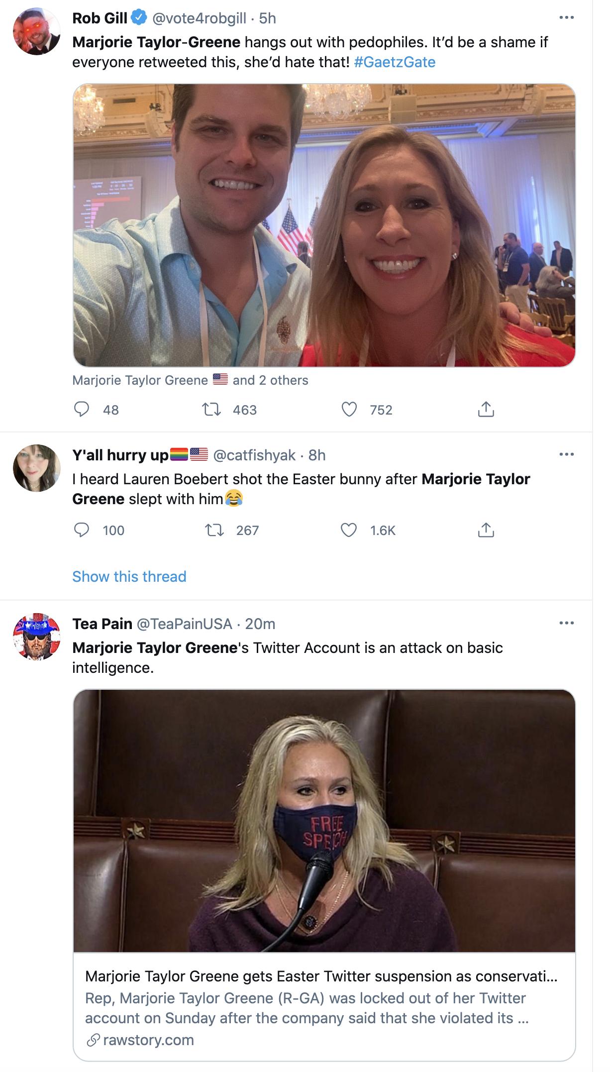 Screen-Shot-2021-04-04-at-4.56.36-PM Twitter Suspends Qanon Kook Marjorie Green Yet Again Coronavirus Featured Gun Control Politics Top Stories