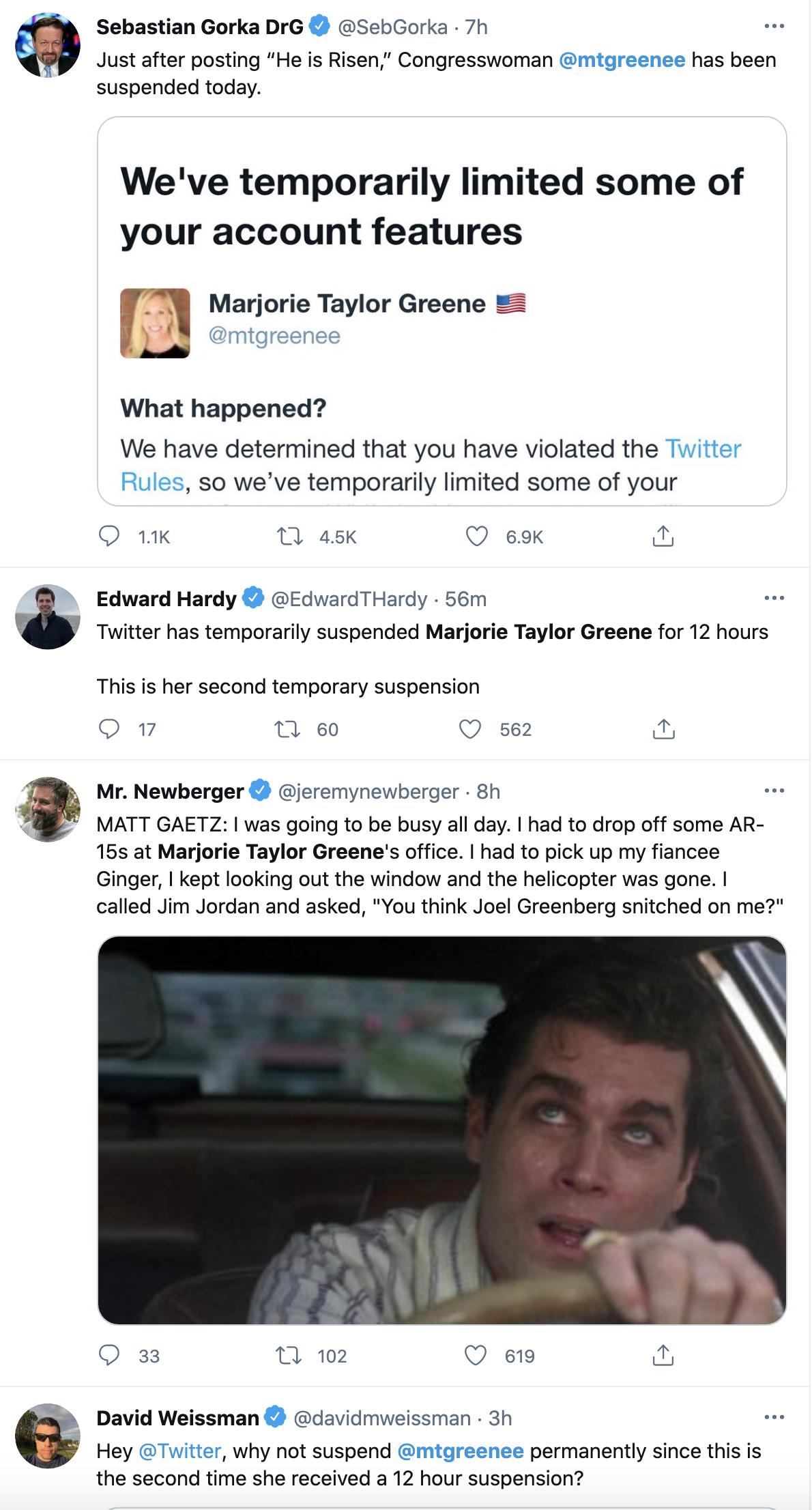 Screen-Shot-2021-04-04-at-4.56.55-PM Twitter Suspends Qanon Kook Marjorie Green Yet Again Coronavirus Featured Gun Control Politics Top Stories