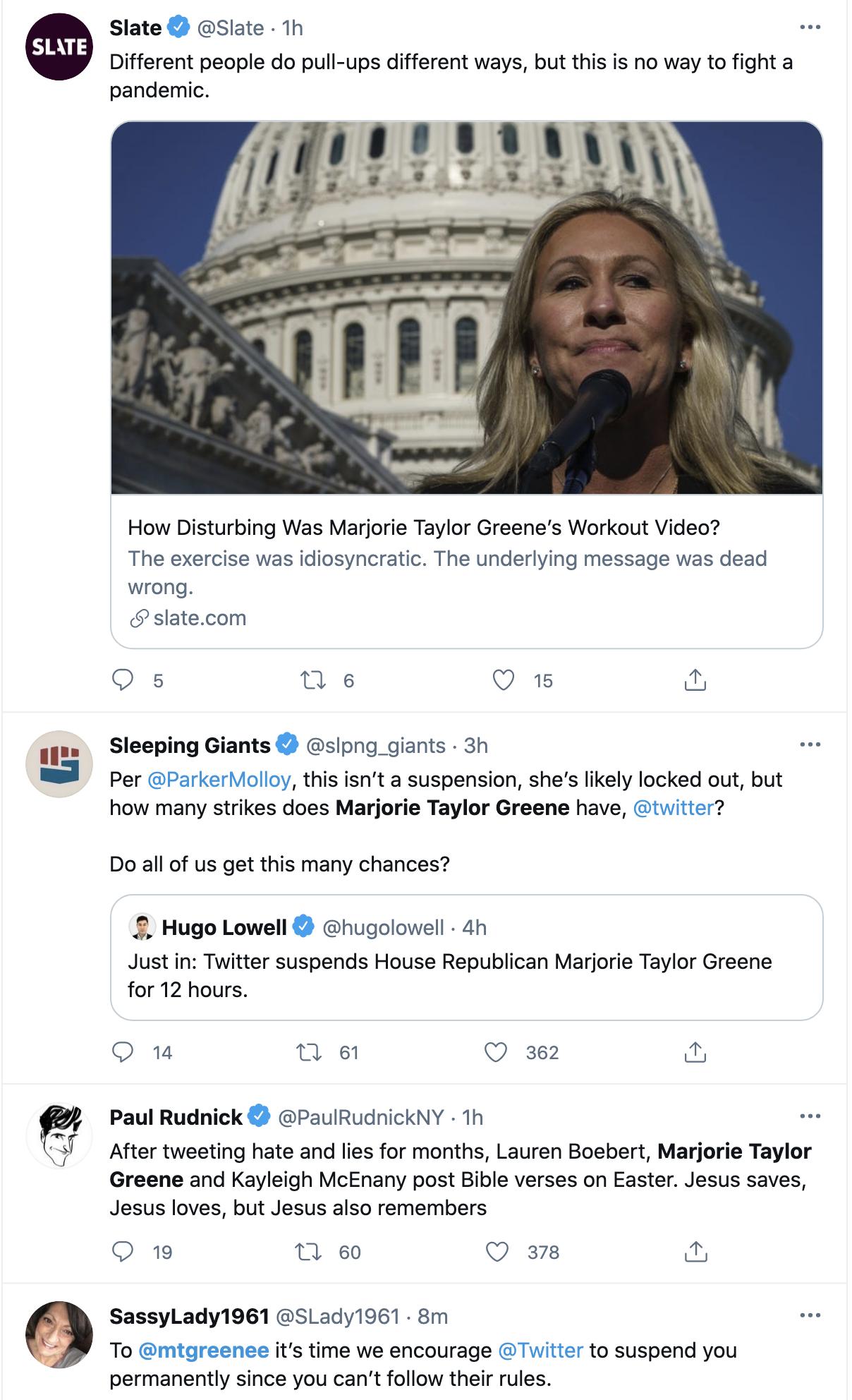 Screen-Shot-2021-04-04-at-4.58.59-PM Twitter Suspends Qanon Kook Marjorie Green Yet Again Coronavirus Featured Gun Control Politics Top Stories