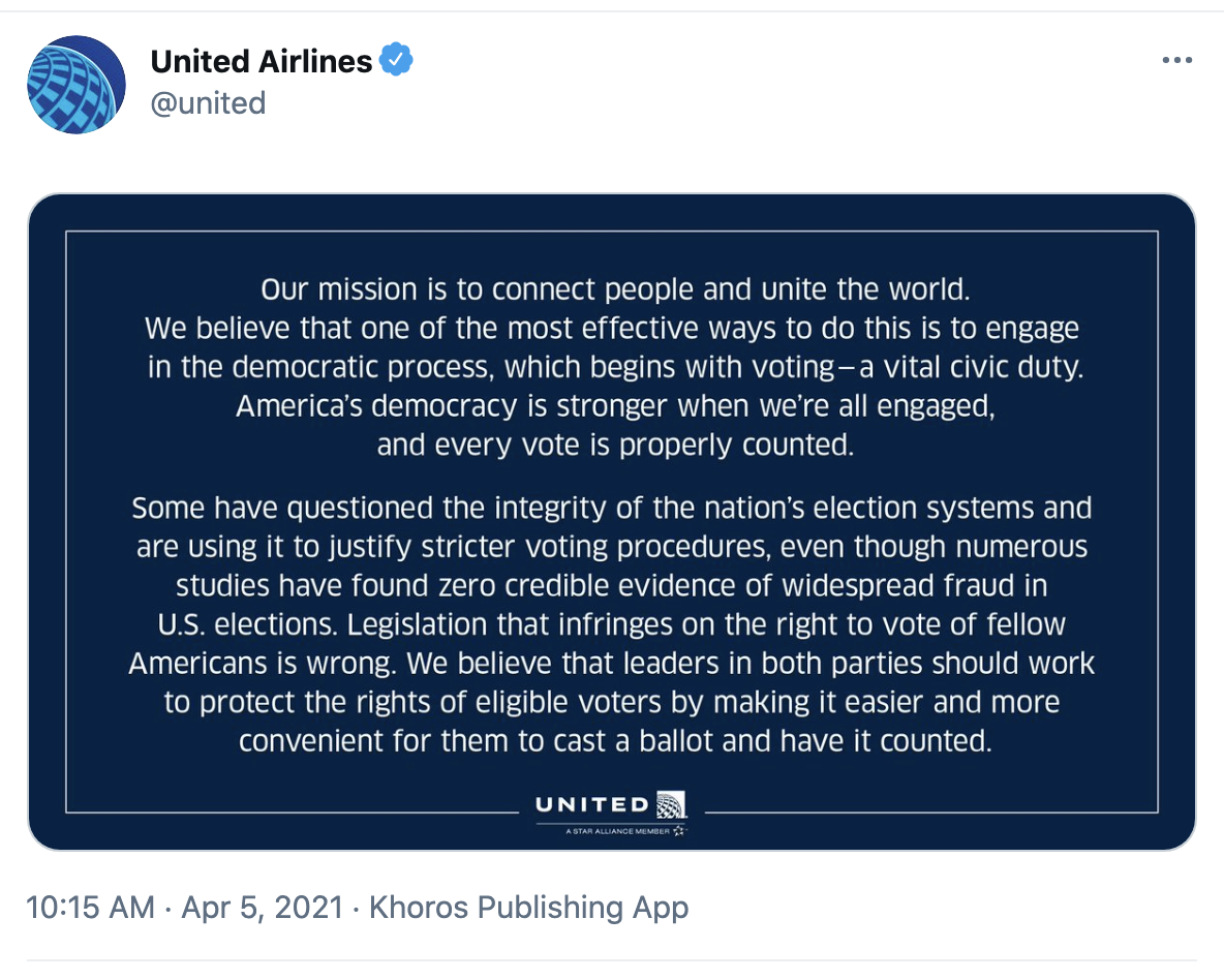 Screen-Shot-2021-04-05-at-1.21.39-PM MAGA Will Be Bussing After United Airlines Joins Georgia Boycott Domestic Policy Economy Featured Politics Top Stories
