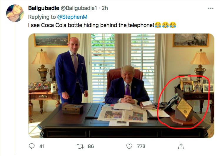 Screen-Shot-2021-04-05-at-6.53.44-PM Trump Caught On Camera With A Coke After Demanding Boycott Activism Donald Trump Featured Politics Top Stories Twitter