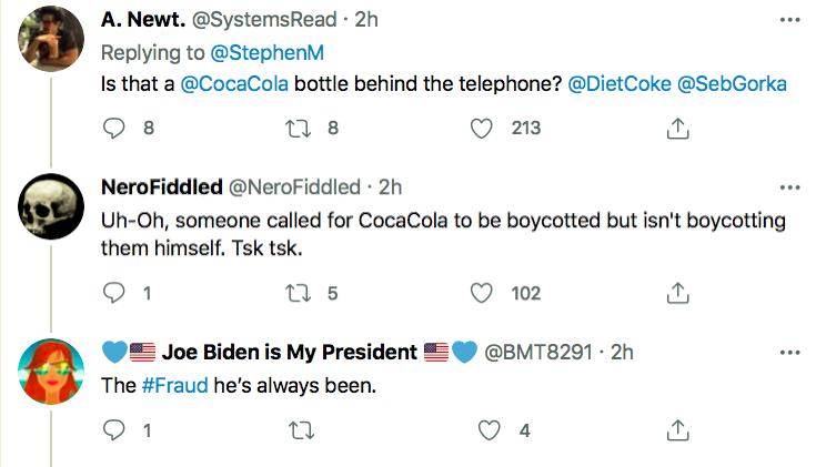Screen-Shot-2021-04-05-at-6.54.26-PM Trump Caught On Camera With A Coke After Demanding Boycott Activism Donald Trump Featured Politics Top Stories Twitter