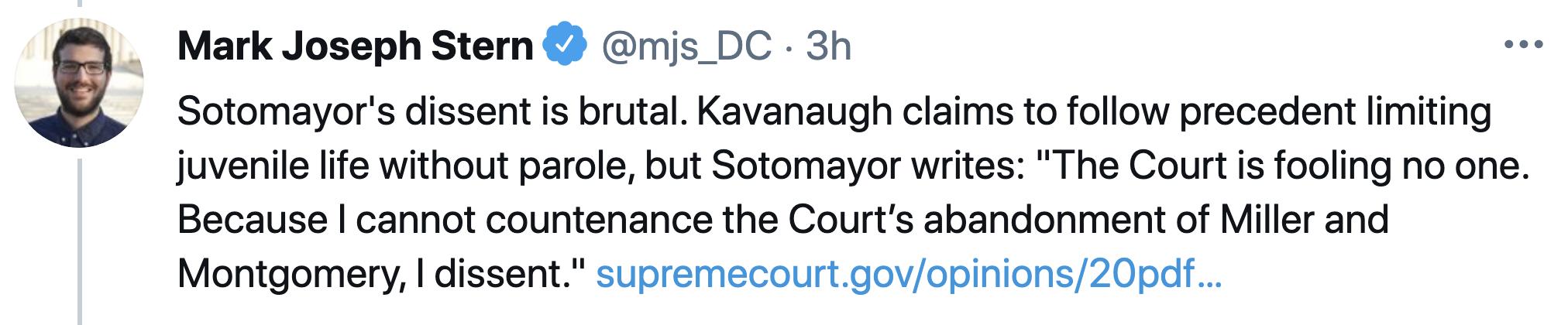 Screen-Shot-2021-04-22-at-12.51.51-PM Sonia Sotomayor Steamrolls Over Brett Kavanaugh In Thursday Rebuke Child Abuse Featured Politics Supreme Court Top Stories