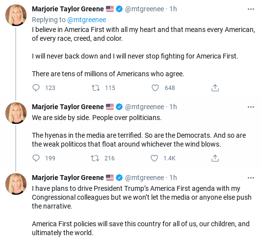 Screenshot-2021-04-17-2.45.04-PM Marjorie Greene Has Unhinged Public Freak-Out Over 'Psychotic Communists' Donald Trump Politics Social Media Top Stories