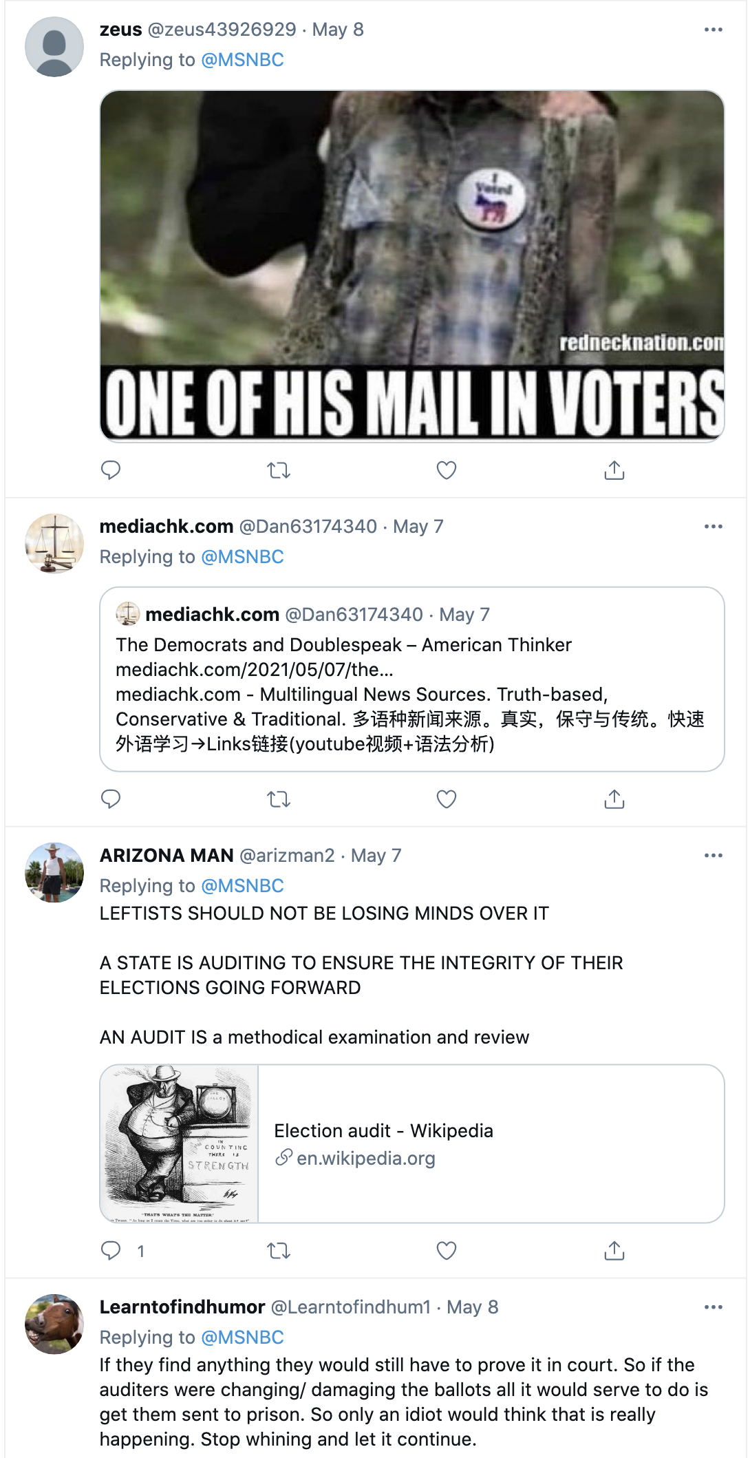 Screen-Shot-2021-05-09-at-9.38.18-AM Arizona Secretary Of State Calls Republican Election Audit 'Invalid' Corruption Featured Politics Top Stories Twitter