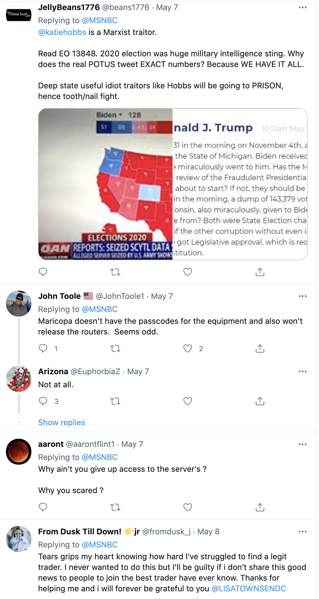 Screen-Shot-2021-05-09-at-9.38.40-AM Arizona Secretary Of State Calls Republican Election Audit 'Invalid' Corruption Featured Politics Top Stories Twitter