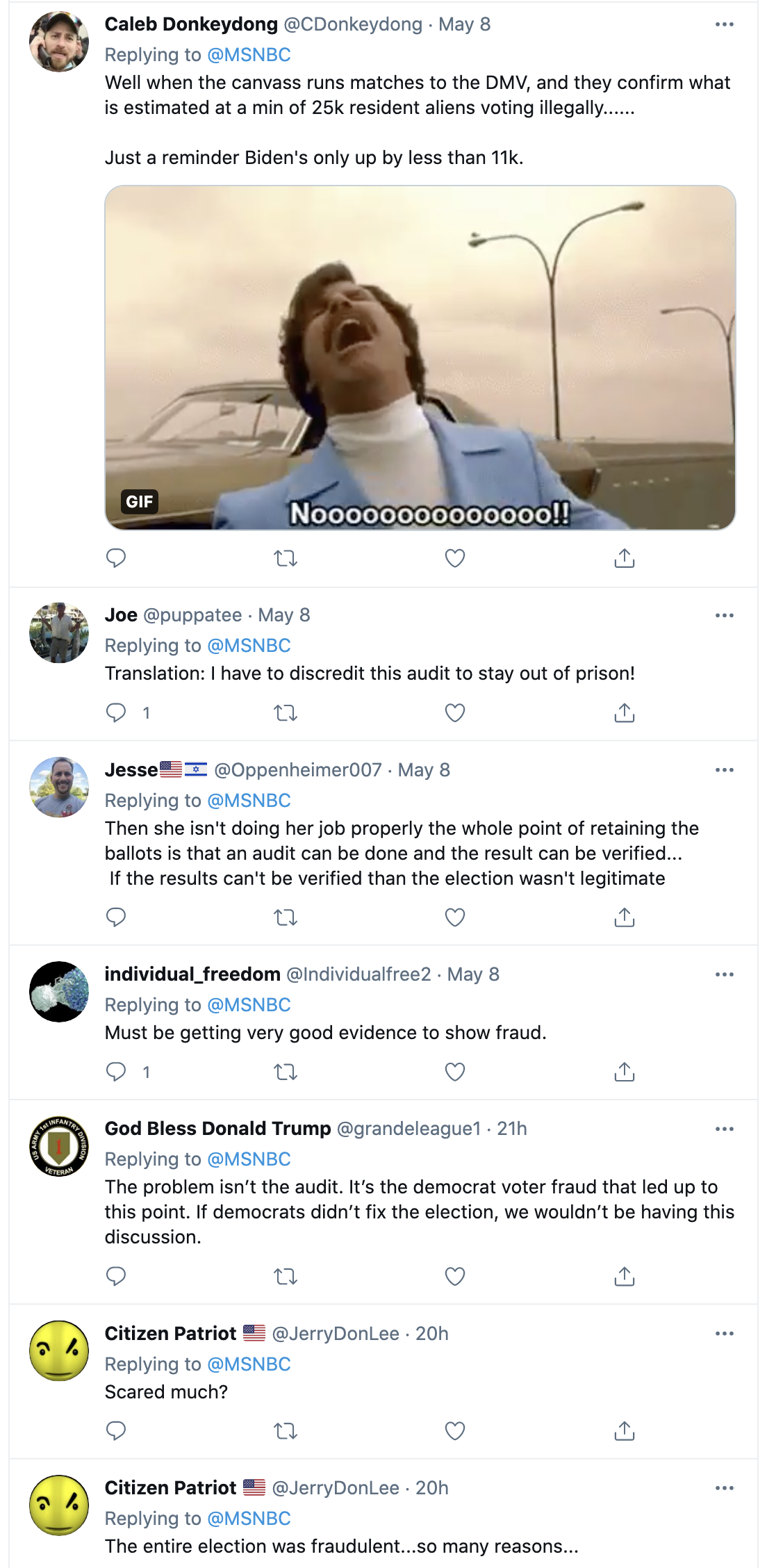 Screen-Shot-2021-05-09-at-9.38.51-AM Arizona Secretary Of State Calls Republican Election Audit 'Invalid' Corruption Featured Politics Top Stories Twitter