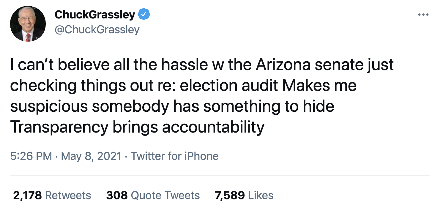 Screen-Shot-2021-05-09-at-9.43.17-AM Arizona Secretary Of State Calls Republican Election Audit 'Invalid' Corruption Featured Politics Top Stories Twitter