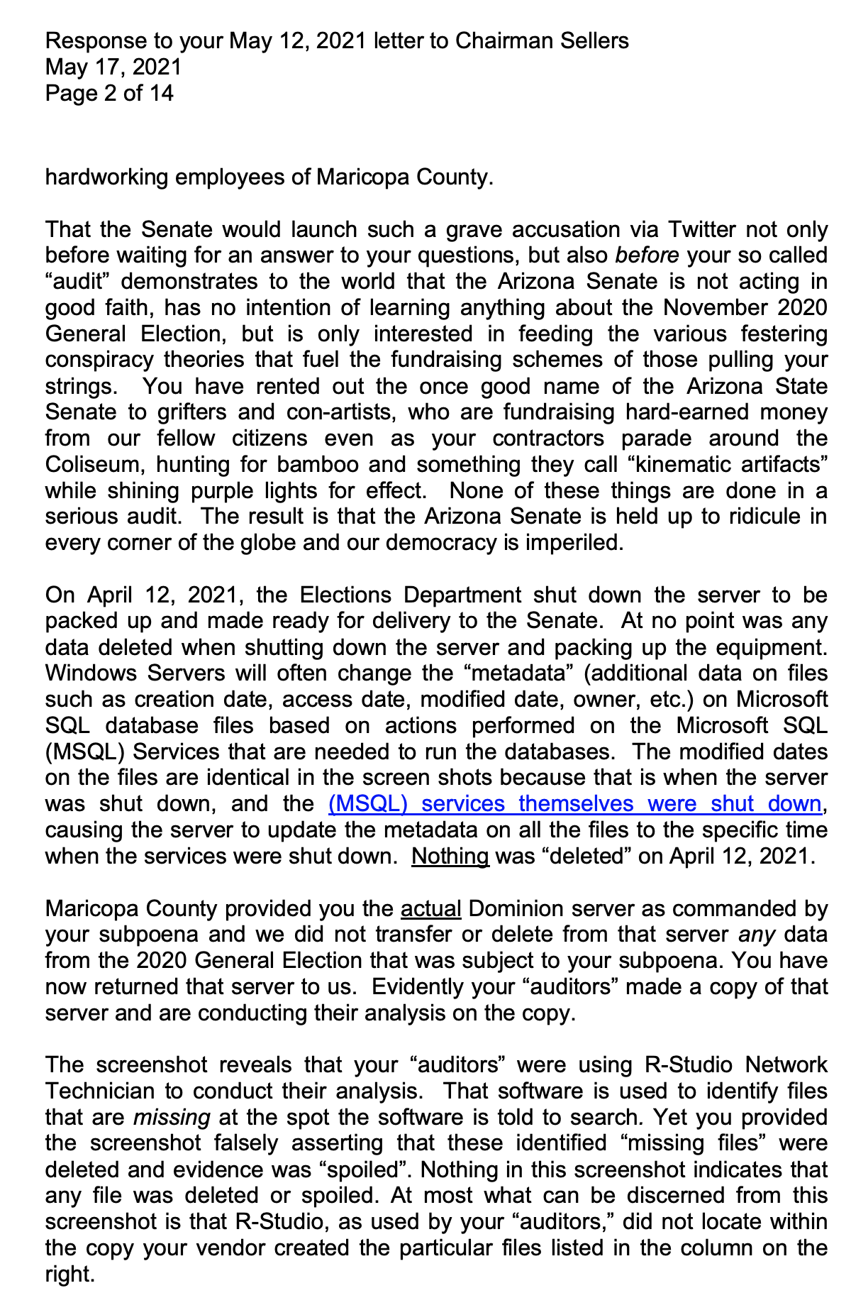 Screen-Shot-2021-05-18-at-8.43.38-AM AZ Recount In Collapse After County Board Rejects GOP 'Grift' Corruption Crime Election 2020 Politics Top Stories