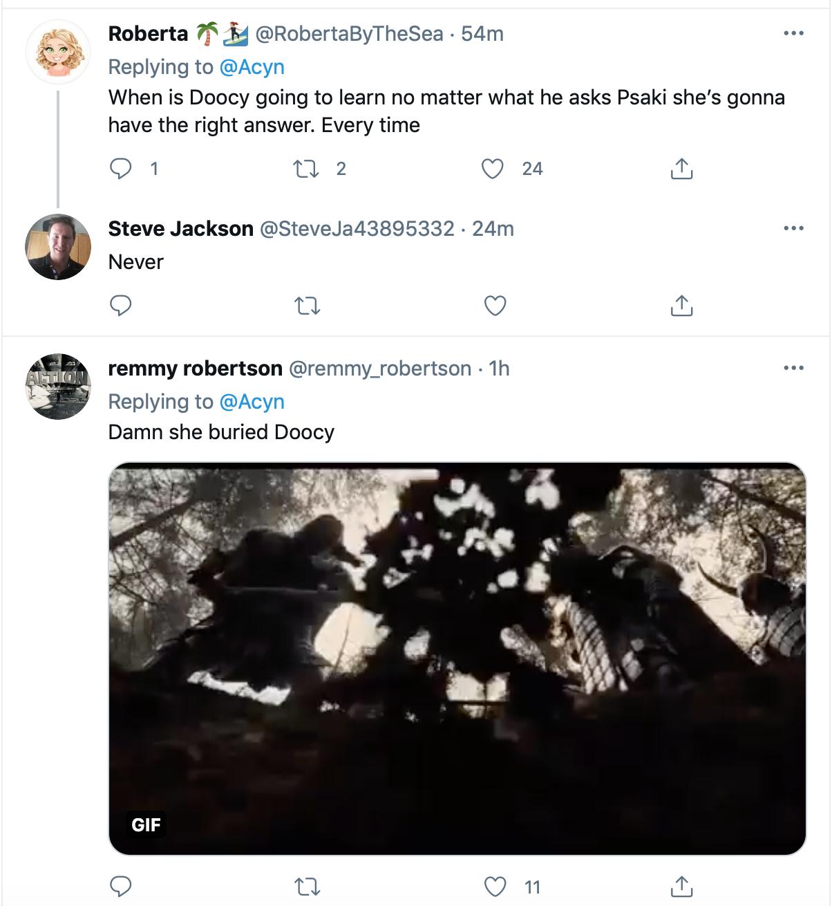 Screen-Shot-2021-05-20-at-2.42.40-PM Jen Psaki Steamrolls Fox News Goon At Thursday Press Briefing Conspiracy Theory Coronavirus Donald Trump Featured Politics Top Stories Videos