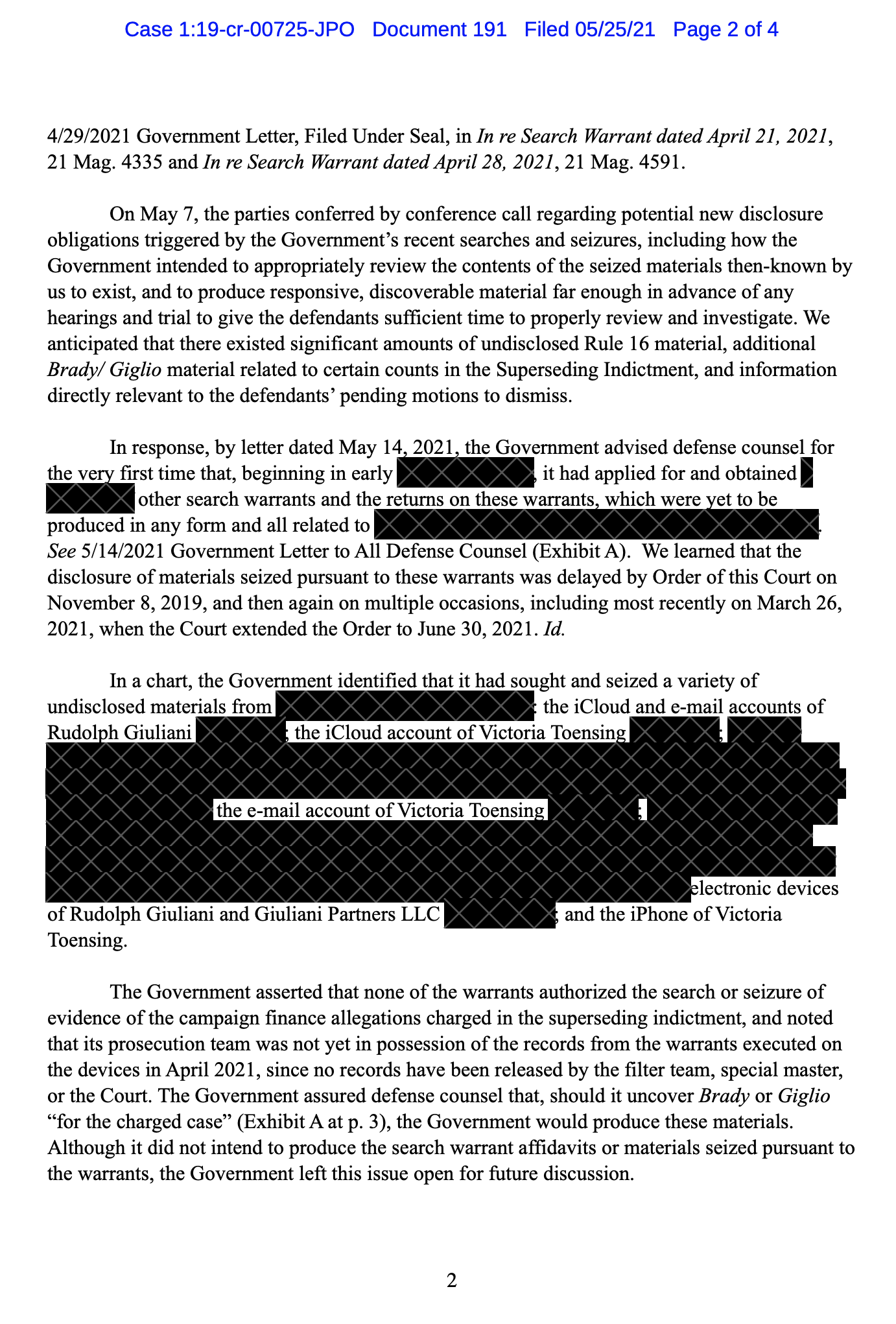Screen-Shot-2021-05-25-at-1.32.11-PM Federal Authorities Seize Widespread Array Of Documents From Giuliani Donald Trump Featured Politics Russia Top Stories