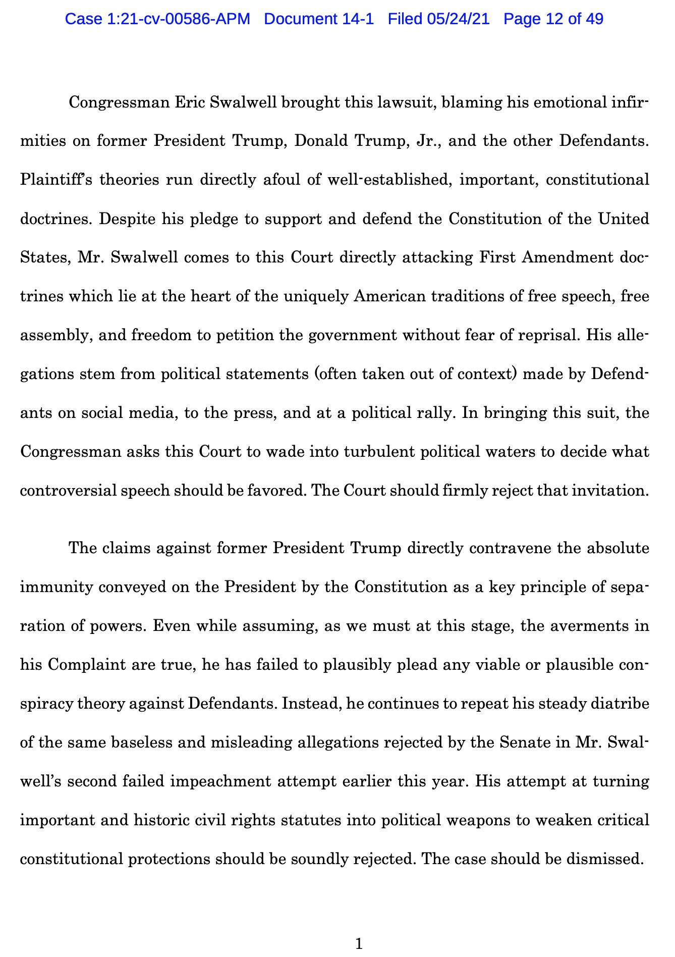 Screen-Shot-2021-05-25-at-9.48.33-AM Trump Declares Full Immunity From Jan. 6 Insurrection Lawsuit Crime Donald Trump Featured Politics Top Stories