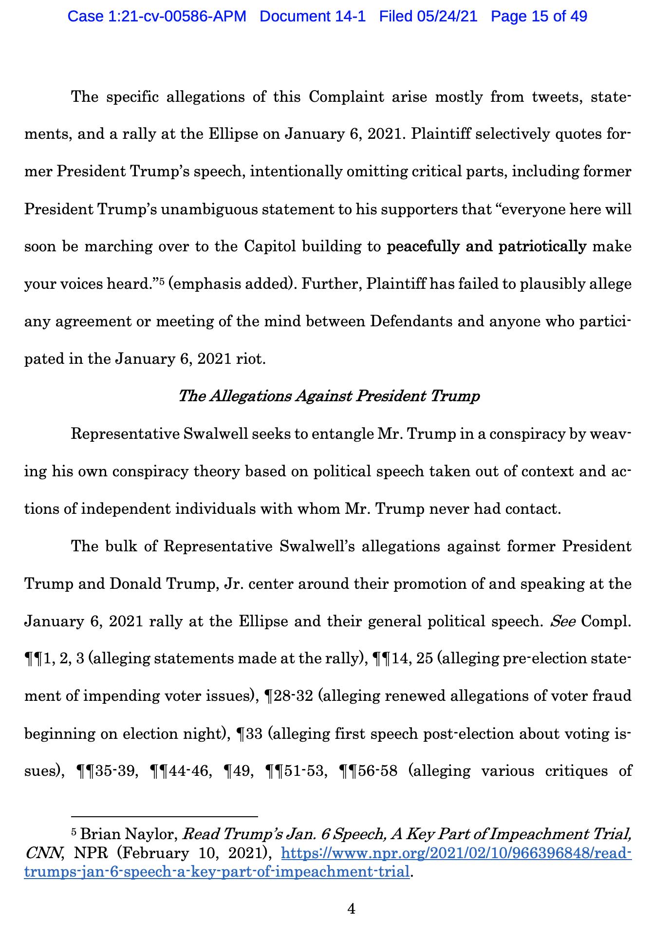 Screen-Shot-2021-05-25-at-9.49.24-AM Trump Declares Full Immunity From Jan. 6 Insurrection Lawsuit Crime Donald Trump Featured Politics Top Stories