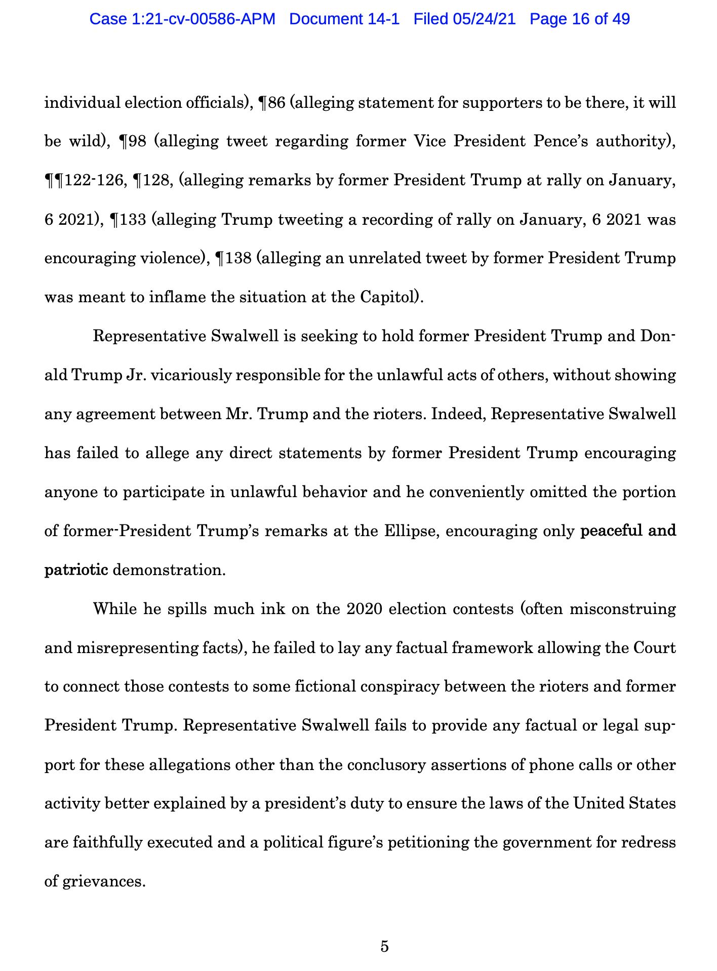 Screen-Shot-2021-05-25-at-9.49.34-AM Trump Declares Full Immunity From Jan. 6 Insurrection Lawsuit Crime Donald Trump Featured Politics Top Stories