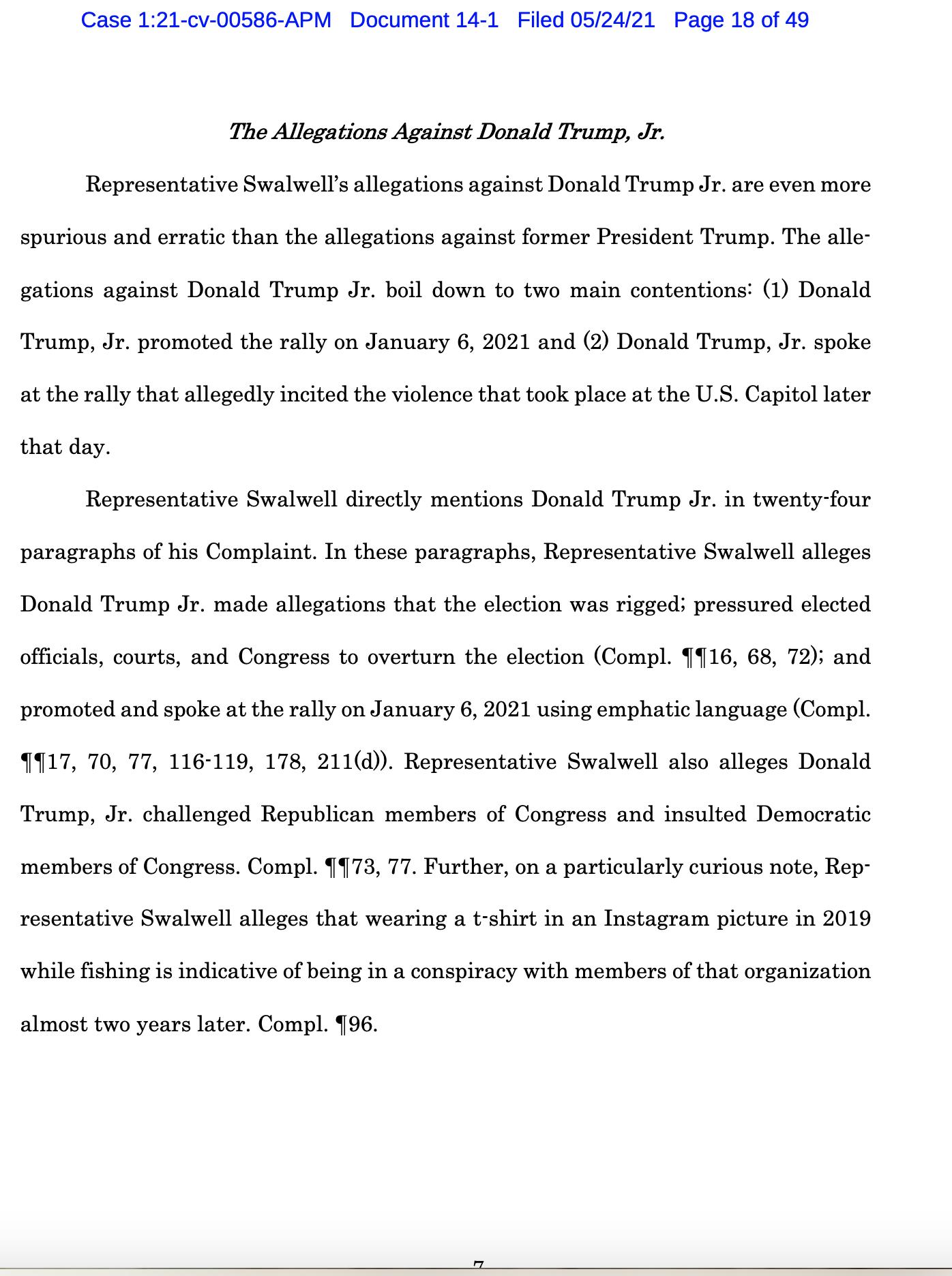Screen-Shot-2021-05-25-at-9.50.14-AM Trump Declares Full Immunity From Jan. 6 Insurrection Lawsuit Crime Donald Trump Featured Politics Top Stories