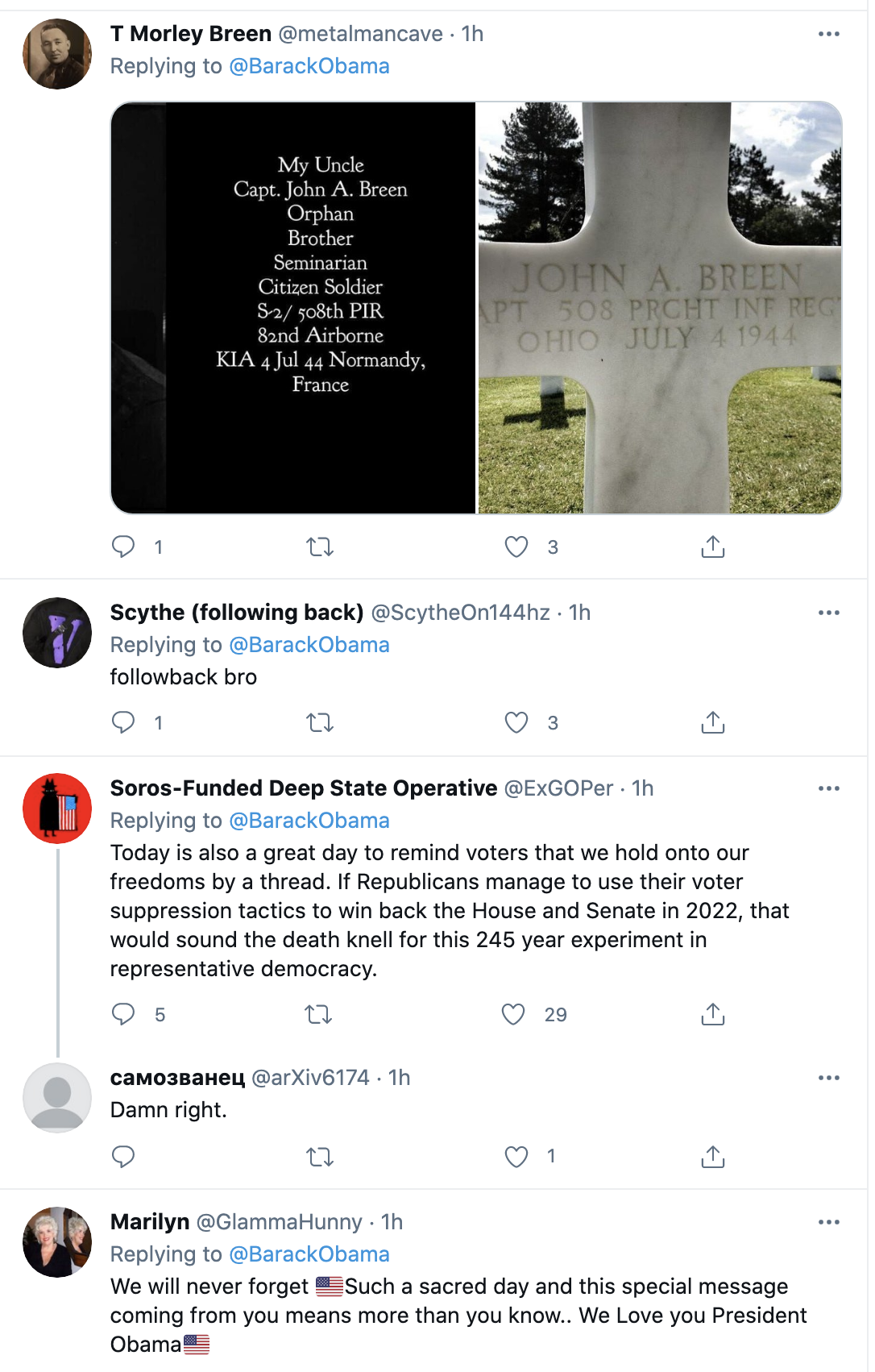 Screen-Shot-2021-05-31-at-9.45.35-AM Obama Honors Memorial Day Like The Leader Trump Could Never Be Featured Military National Security Politics Top Stories