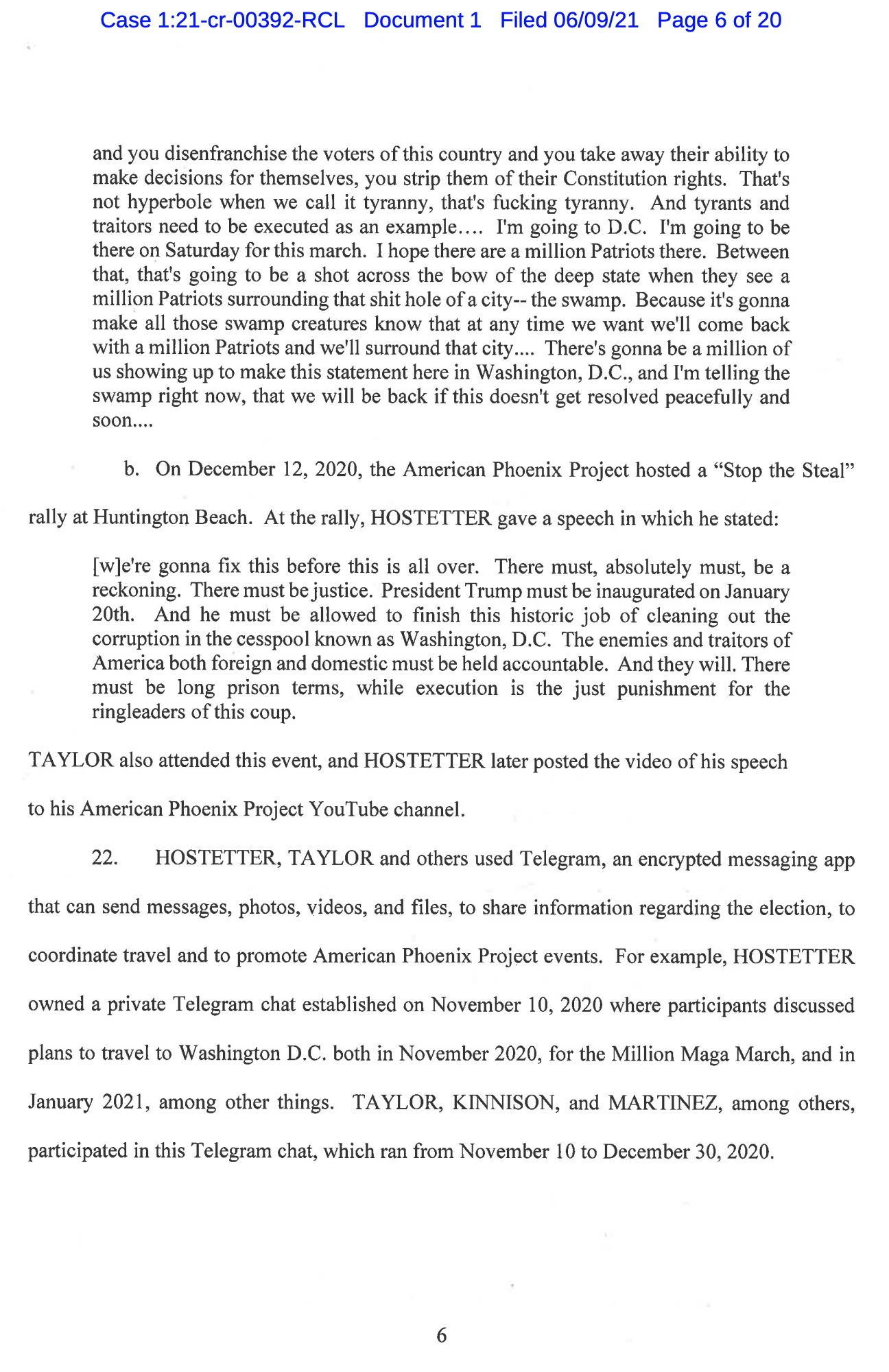 Screen-Shot-2021-06-11-at-12.23.27-PM Six Additional Trump Cult Members Indicted For Jan 6 Insurrection Crime Featured Politics Terrorism Top Stories