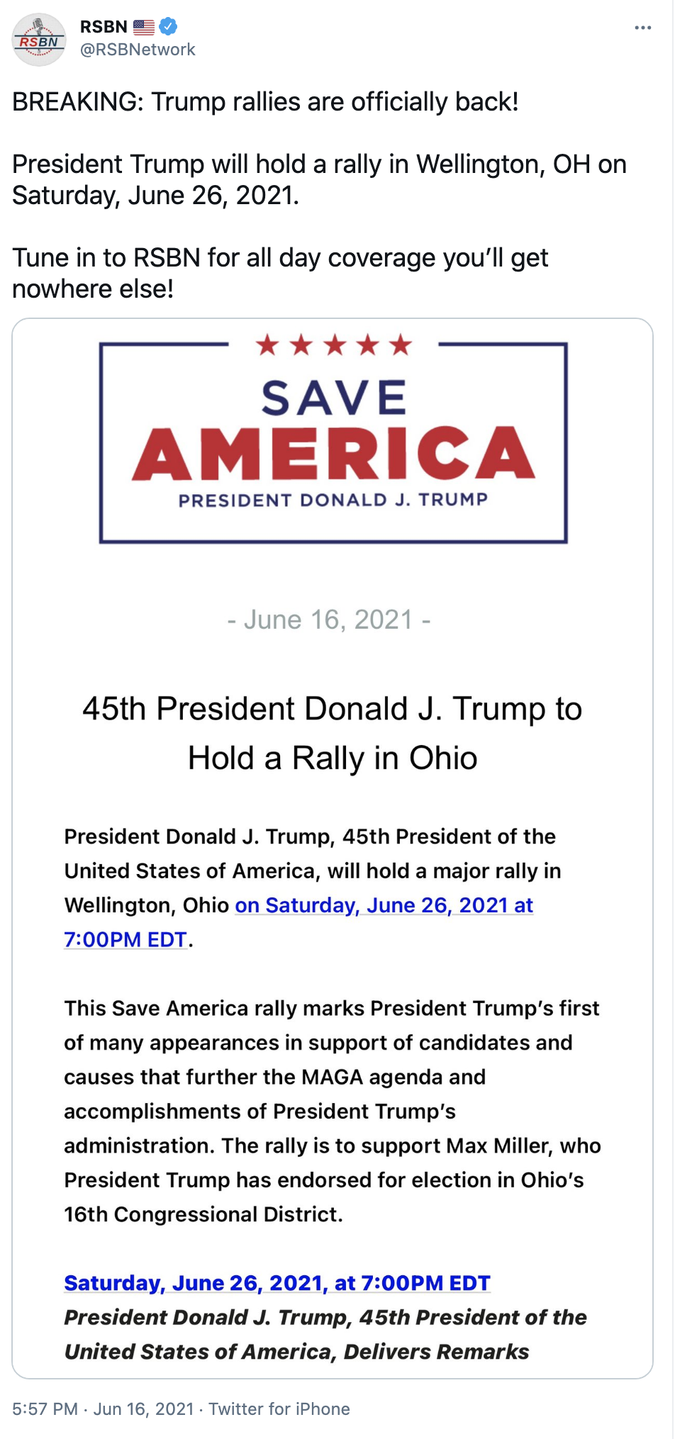 Screen-Shot-2021-06-20-at-1.06.07-PM Trump Goes On Father's Day Rant On 'Radical Left, RINOs, Other Losers' Corruption Donald Trump Featured Top Stories