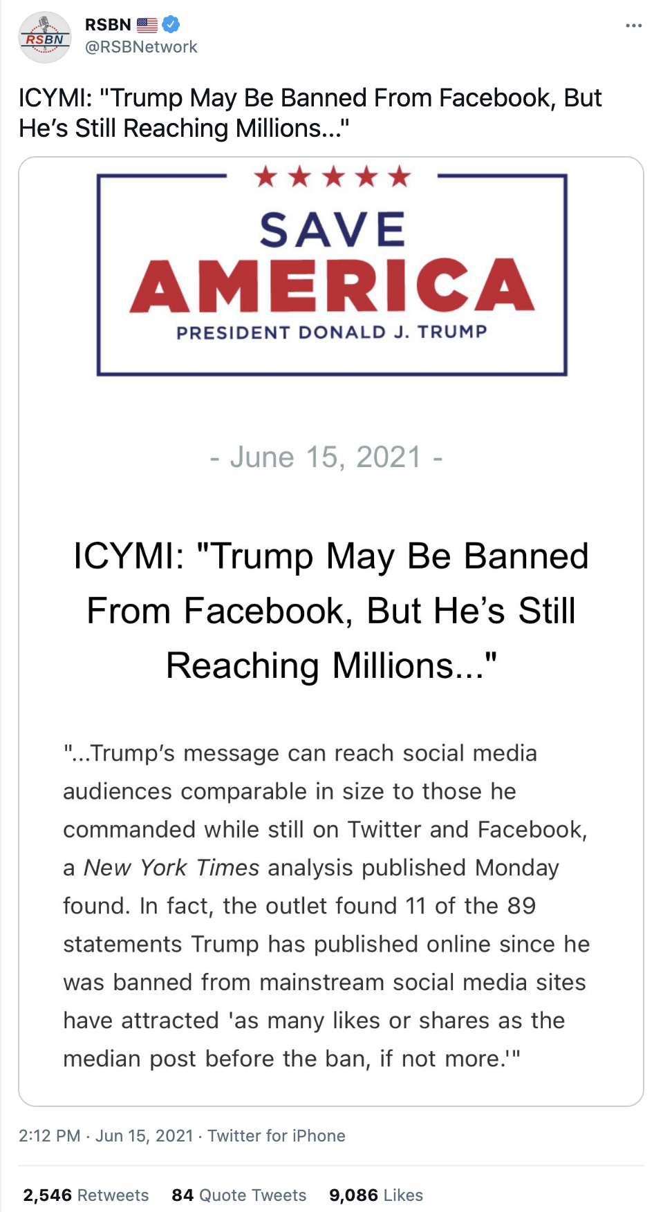 Screen-Shot-2021-06-20-at-1.09.44-PM Trump Goes On Father's Day Rant On 'Radical Left, RINOs, Other Losers' Corruption Donald Trump Featured Top Stories