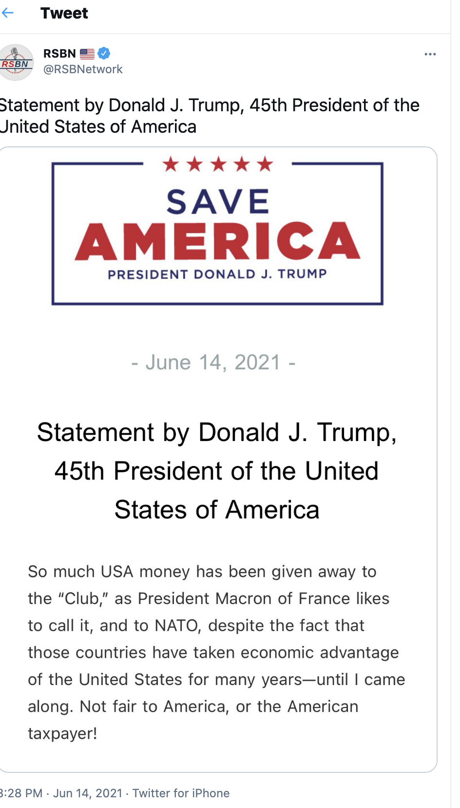 Screen-Shot-2021-06-20-at-1.11.08-PM Trump Goes On Father's Day Rant On 'Radical Left, RINOs, Other Losers' Corruption Donald Trump Featured Top Stories