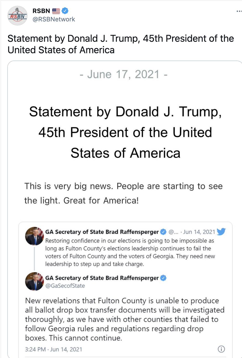 Screen-Shot-2021-06-20-at-1.14.39-PM Trump Goes On Father's Day Rant On 'Radical Left, RINOs, Other Losers' Corruption Donald Trump Featured Top Stories