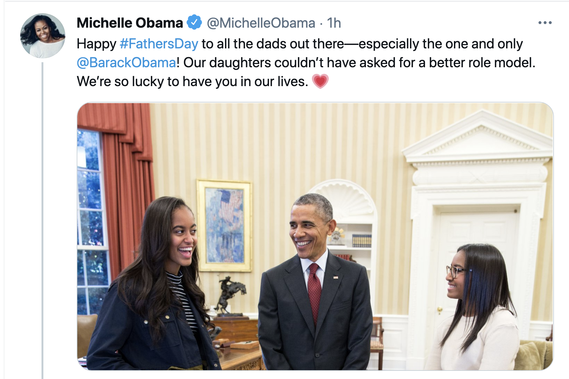 Screen-Shot-2021-06-20-at-9.25.13-AM Michelle Obama Celebrates Fathers Day With Message Of Love Celebrities Featured Michelle Obama Politics Top Stories
