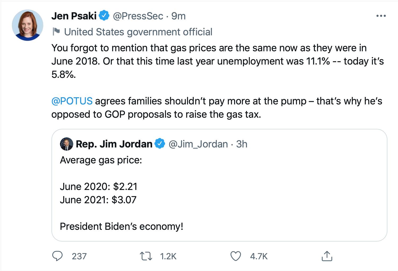 Screen-Shot-2021-06-21-at-12.54.49-PM Jen Psaki Makes Jim Jordan Look Even Dumber Than Usual Economy Featured Joe Biden Politics Top Stories Twitter